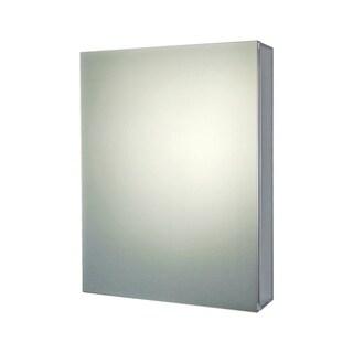 "Ketcham Cabinets Premier Aluminum Single Door Medicine Cabinet with Polished Edge Mirror - 20""W x 26""H"