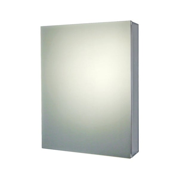 "Ketcham Cabinets Premier Aluminum Single Door Medicine Cabinet with Beveled Edge Mirror - 16""W x 30""H"