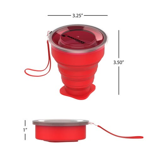 Collapsible Travel Cups BPA Free 6 Oz Cups by Wakeman Outdoors
