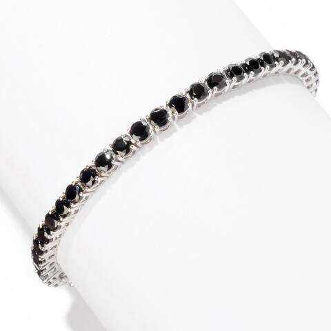 Sterling Silver Spinel Round Tennis Bracelet