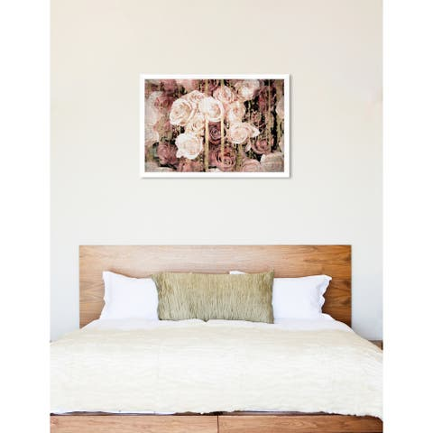 Oliver Gal 'Shabby Chic Romance' Floral Pink Contemporary Framed Wall Art Print