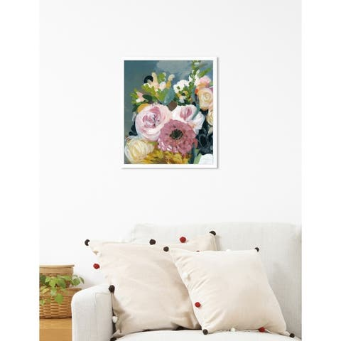 Oliver Gal 'Colors of Spring' Floral Pink Contemporary Framed Wall Art Print