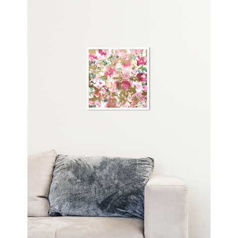 Oliver Gal 'Pastel Wilderness' Floral Pink Contemporary Framed Wall Art Print