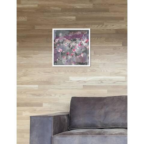 Oliver Gal 'Michaela Nessim - Subtle radiance grey' Floral Purple Framed Wall Art Print