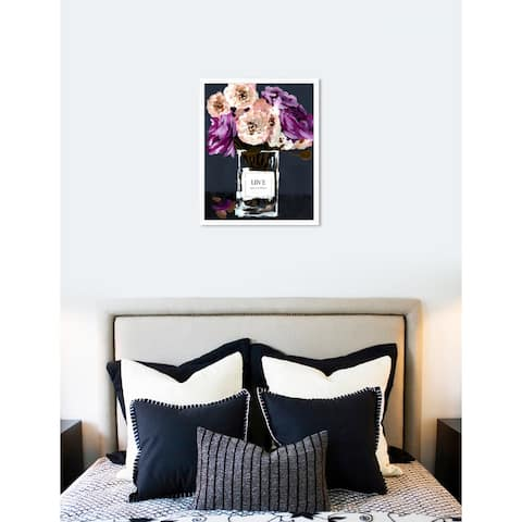 Oliver Gal 'Love Acqua Florale' Pink Floral Contemporary Framed Wall Art Print