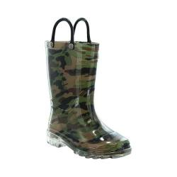 Boys' Western Chief Lighted PVC Camo Rain Boot Camo