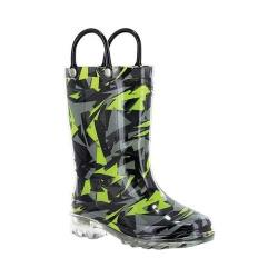Boys' Western Chief Scatter Camo Lighted Rain Boot Camo