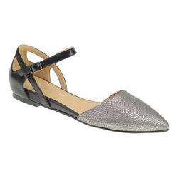 Women's Chinese Laundry CL Helena D'Orsay Flat Star Lizard/Pewter Calf Synthetic