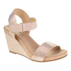 Women's Chinese Laundry CL Trudy Wedge Sandal Royal Tumble/Smooth Nubuck Rose Gold Synthetic