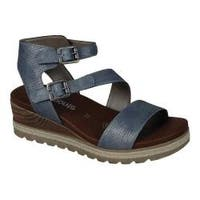 Women's Remonte Icess 51 Ankle Strap Sandal Denim Synthetic