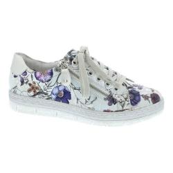 Women's Remonte Kaja 00 Sneaker Off White-Metallic/Silver Suede (More options available)