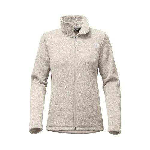 6b01d84c5596 Shop Women s The North Face Crescent Full Zip Wild Oat Heather - Free  Shipping Today - Overstock - 20618572