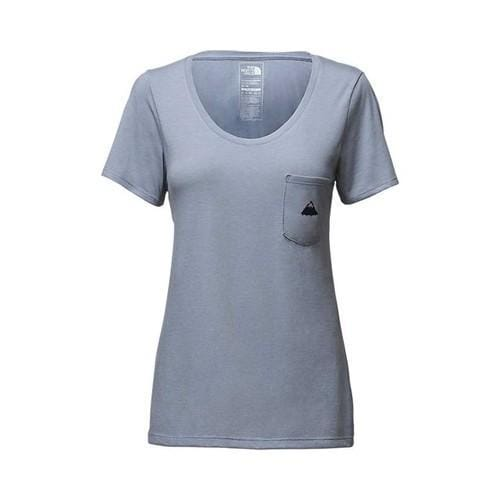 1ee1548f4 Women's The North Face Short Sleeve Tri-Blend Pocket Tee Dusty Blue Heather