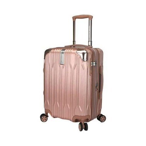 Traveler's Choice Bell Weather Expandable 20in Carry-On Spinner Rose Gold
