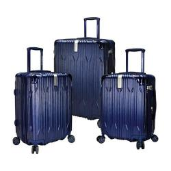Traveler's Choice Bell Weather Expandable 3-Piece Spinner Set Navy