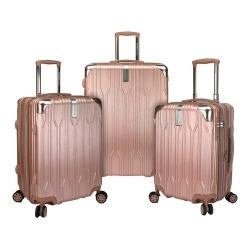 Traveler's Choice Bell Weather Expandable 3-Piece Spinner Set Rose Gold