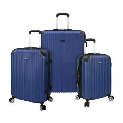 Traveler's Choice Charvi 3-Piece Hardside Expandable Spinner Set Bright Navy