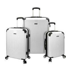 Traveler's Choice Charvi 3-Piece Hardside Expandable Spinner Set Pear White