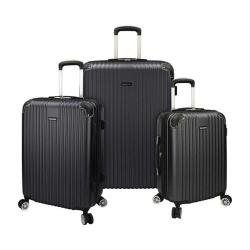 Traveler's Choice Charvi 3-Piece Hardside Expandable Spinner Set Slate Grey
