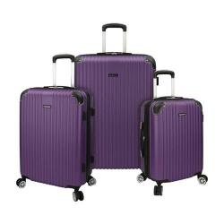 Traveler's Choice Charvi 3-Piece Hardside Expandable Spinner Set Tyrian Purple