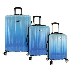 Traveler's Choice Ruma Ombre 3-Piece Expandable Spinner Luggage Set Blue