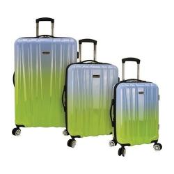 Traveler's Choice Ruma Ombre 3-Piece Expandable Spinner Luggage Set Blue-Green