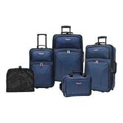 Traveler's Choice Versatile 5-Piece Luggage Set Navy