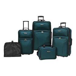Traveler's Choice Versatile 5-Piece Luggage Set Teal