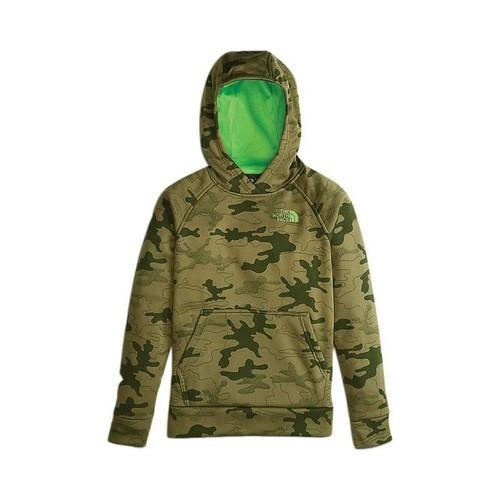 163d63a1fec Boys' The North Face Surgent 2.0 Pullover Hoodie Burnt Olive Green Woodland  Heather Camo Print