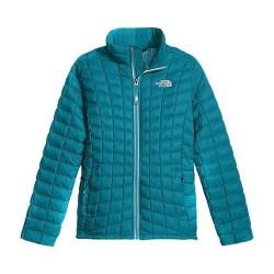 Girls' The North Face Thermoball Full Zip Jacket Algiers Blue Leaf Print