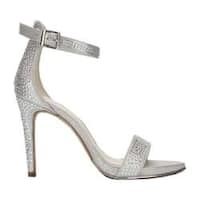 Women's Kenneth Cole New York Brooke Two Piece Sandal Silver Shine Microsuede
