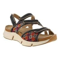 Women's L'Artiste by Spring Step Sustavre Strappy Sandal Black Multi Leather