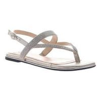 Women's Madeline Mermaid Thong Sandal Grey Silver Synthetic