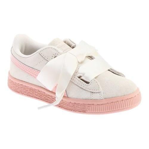 quality design df6ca 0434c Girls' PUMA Suede Heart PS Sneaker Whisper White/Peach Beige