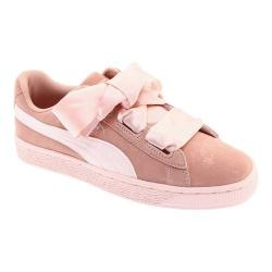 Girls' PUMA Suede Heart Jr. Sneaker Peach Beige/Pearl