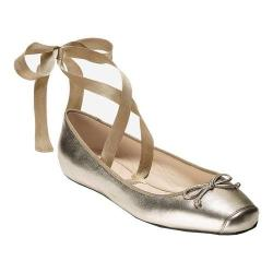 Women's Cole Haan Downtown Ballet Gold Metallic Leather