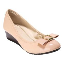 Women's Cole Haan Emory 40mm Bow Wedge II Sandal Nude Leather