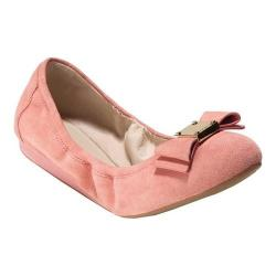 Women's Cole Haan Tali Bow Ballet Flat Coral Almond Suede
