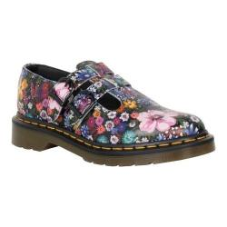 Women's Dr. Martens 8065 Double Strap Mary Jane DML Black/Mallow Pink Wanderlust Backhand Leather