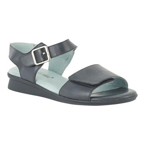 Women's David Tate Light Ankle Strap Sandal Black Naked Calfskin