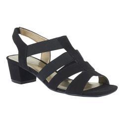Women's David Tate Delight Strappy Sandal Black Nova Suede - Thumbnail 0