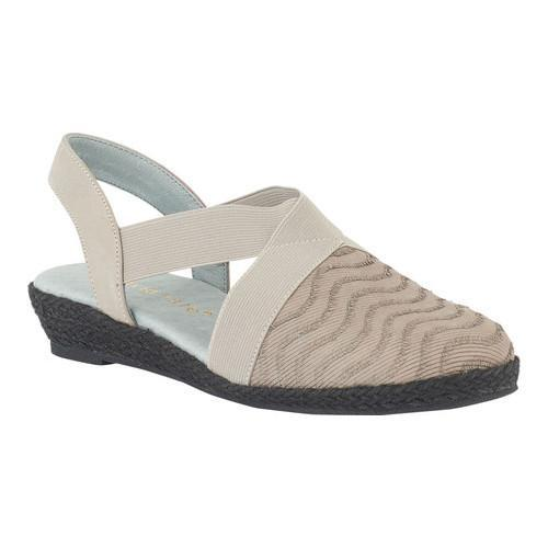 Women's David Tate Snazzy Closed Toe Sandal Grey Nubuck/Fabric