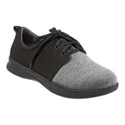 Women's SoftWalk Relax Sneaker Black/Grey Sport Lycra/Microfiber Stretch