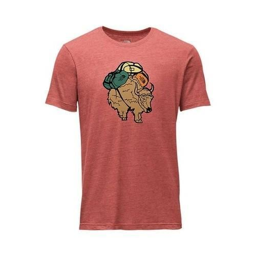 7269868c Shop Men's The North Face Short Sleeve Yak Pack Tri-Blend Tee Bossa Nova  Red Heather - Free Shipping On Orders Over $45 - Overstock - 20671400