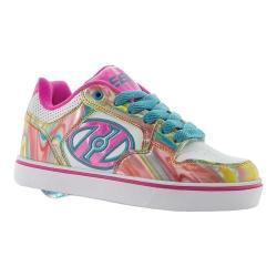 Children's Heelys Motion Plus Roller Shoe White/Pink Metallic/Swirl