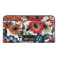 Women's Sakroots Artist Circle Slim Wallet Optic In Bloom