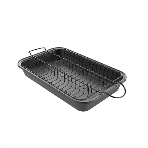 Meatball Pan-2-In-1 Roaster Removable Wire Rack by Classic Cuisine