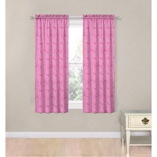 Disney Princess Friendship Adventures Pink Fabric 63-inch Decorative Curtain Panel Set