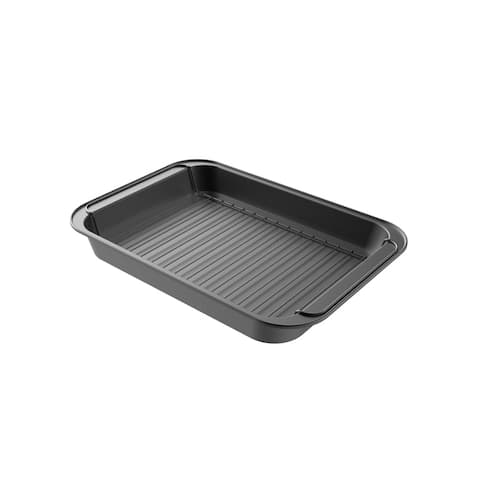 Roasting Pan with Rack Nonstick with Removable Grid by Classic Cuisine