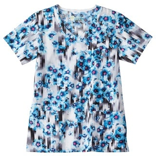 BIO Print Ladies V-Neck Ladies Scrub Top